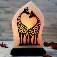 """Солевая лампа """"Жирафы""""  1,5-2,5 кг из гималайской соли"""