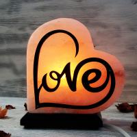 """Солевая лампа """"Сердце"""" love 1,5-2,5 кг из гималайской соли"""