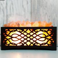 Солевая лампа Камин № 6 темный 9-10 кг